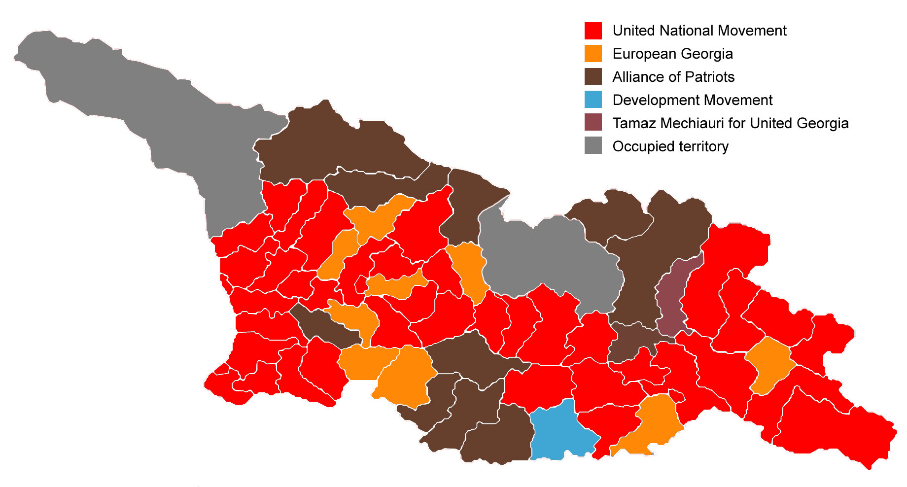 Civil georgian 2017 municipal election results in maps party list runners up by electoral district and in tbilisi gumiabroncs Images