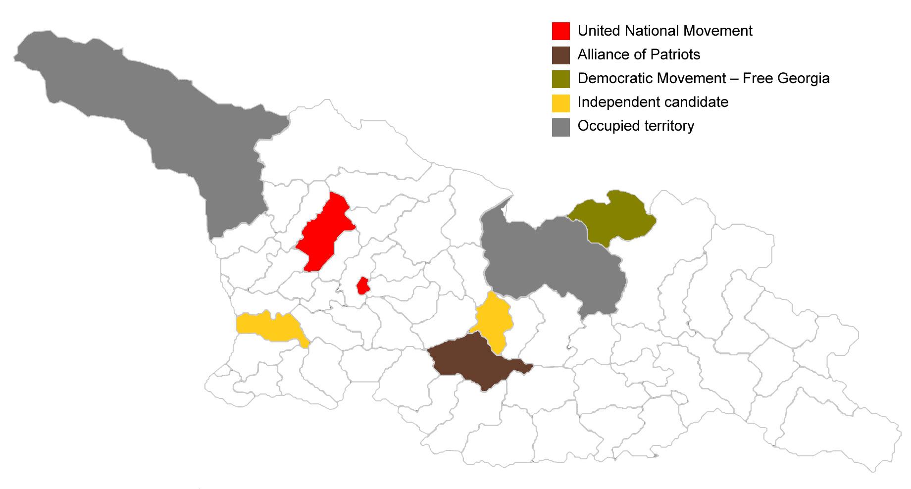 Map Of Georgia 2017.Civil Ge Georgian 2017 Municipal Election Results In Maps