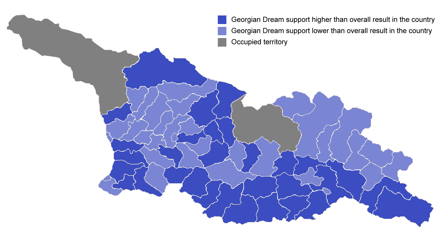 Civil georgian 2017 municipal election results in maps the georgian dream support gumiabroncs Choice Image