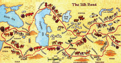 Image result for Silk Road and Georgia